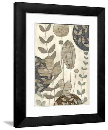 Garden Contours I-Erica J^ Vess-Framed Giclee Print