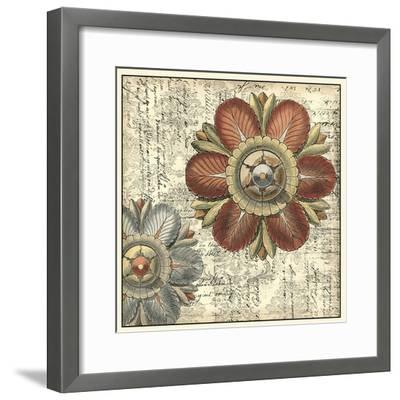 Vintage Rosette II--Framed Giclee Print