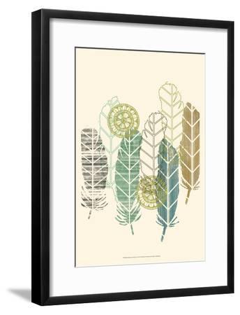 Feathers in a Row I-Jennifer Goldberger-Framed Art Print