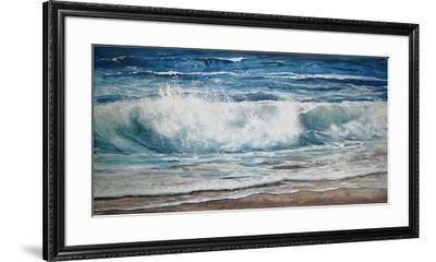 Shoreline study 9-Carole Malcolm-Framed Art Print
