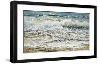 Shoreline study 6-Carole Malcolm-Framed Art Print