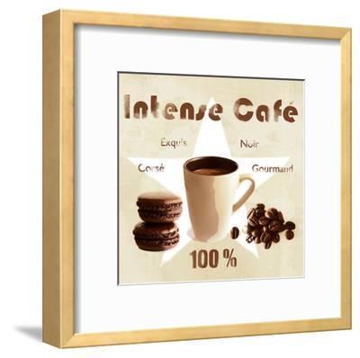 Intense coffee-Galith Sultan-Framed Art Print