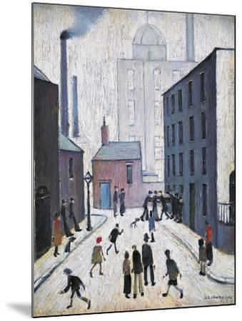 Industrial Scene, 1953-Laurence Stephen Lowry-Mounted Giclee Print