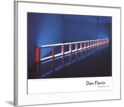 An Artificial Barrier Blue, Red and Blue Fluorescent Light (to Flavin Starbuck Judd)-Dan Flavin-Framed Art Print