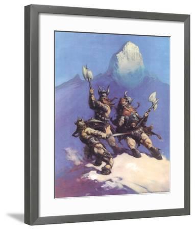Snow Giants (cover art for Conan of Cimmeria)-Frank Frazetta-Framed Art Print