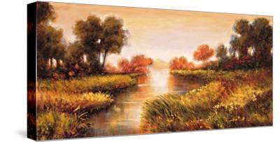 Pond at Daybreak-Jeffrey Leonard-Stretched Canvas Print