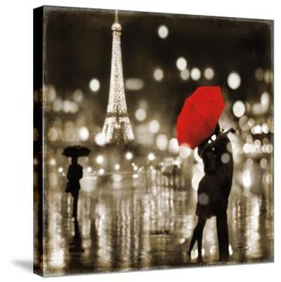 A Paris Kiss-Kate Carrigan-Stretched Canvas Print