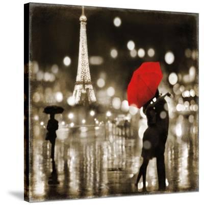 A Paris Kiss-Kate Carrigan-Stretched Canvas Print