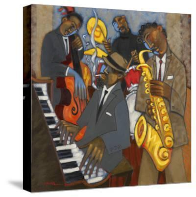 Thelonious Monk and his Sidemen-Marsha Hammel-Stretched Canvas Print