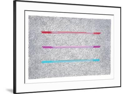 Collage Elements III- Batlle-Framed Limited Edition