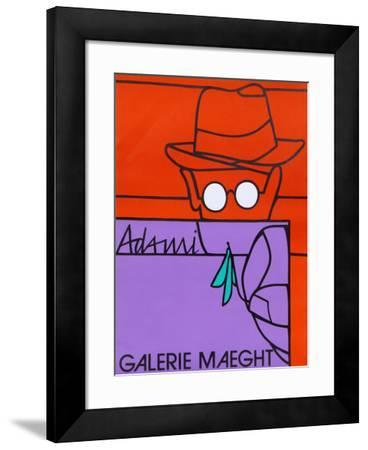 Man in Glasses-Valerio Adami-Framed Collectable Print