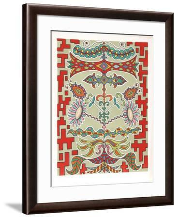 Flowers on Pattern-Edouard Dermit-Framed Limited Edition