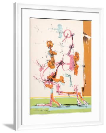 Untitled - Walking Figure-Dimitri Petrov-Framed Limited Edition