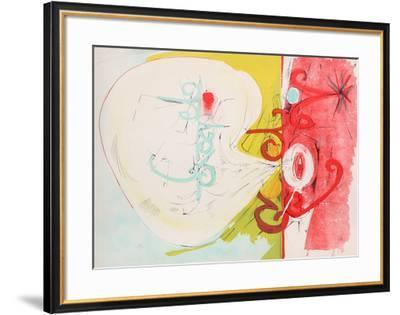 Untitled - Red Face Blowing Smoke-Dimitri Petrov-Framed Limited Edition