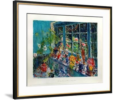 The Large Window With Flowers-Dimitrie Berea-Framed Art Print