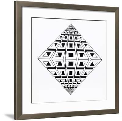 Untitled-Roy Ahlgren-Framed Serigraph