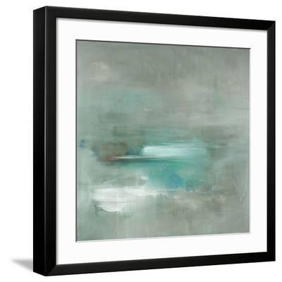 Misty Pale Azura Sea-Heather Ross-Framed Art Print