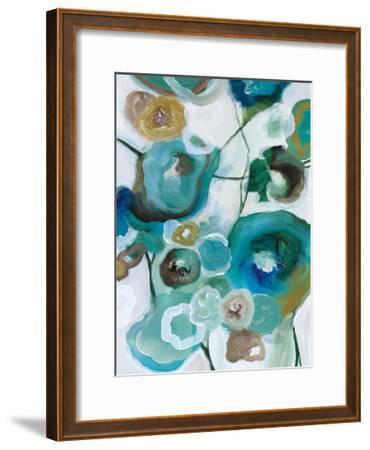 Sapphire Blooms I-Cat Tesla-Framed Giclee Print