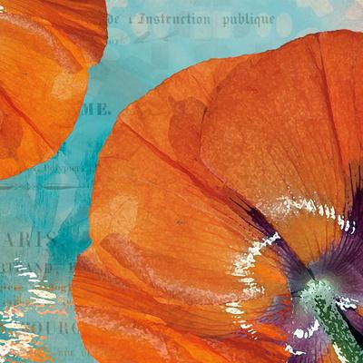 Poppies in the Sky I-Sabine Berg-Framed Art Print