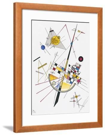 Delicate Tension (1923)-Wassily Kandinsky-Framed Art Print
