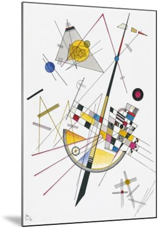 Delicate Tension (1923)-Wassily Kandinsky-Mounted Art Print