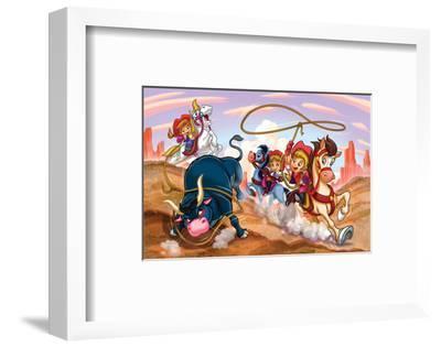 Girl Power - Cowgirls--Framed Art Print