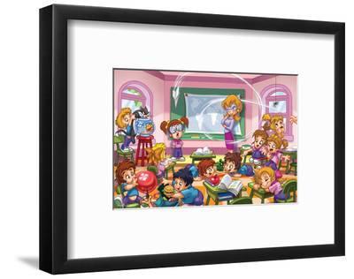 Girl Power - Teachers--Framed Art Print