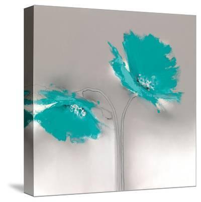 Aqua Platinum Petals II-J^P^ Prior-Stretched Canvas Print