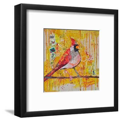 Femail Cardinal--Framed Art Print