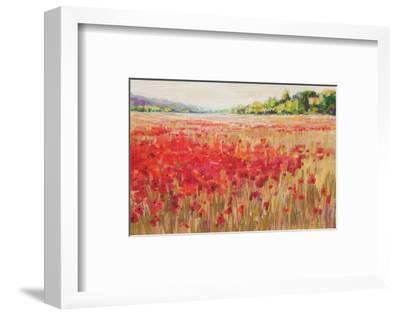 Poppies And Trees VI--Framed Art Print