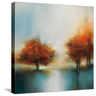Morning Mist & Maple II-J^P^ Prior-Stretched Canvas Print