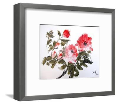 Red Peonnies--Framed Art Print