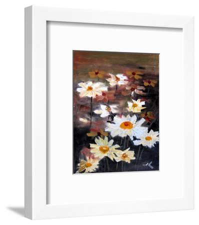 White Daisies--Framed Art Print