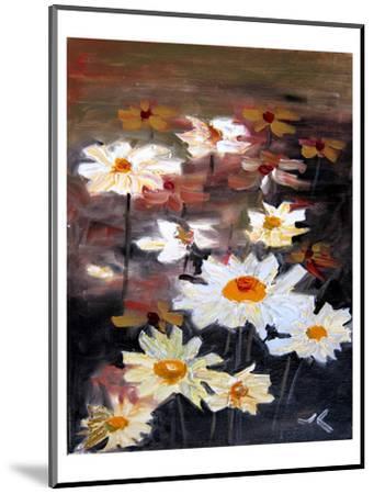 White Daisies--Mounted Art Print