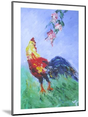 Rooster--Mounted Art Print