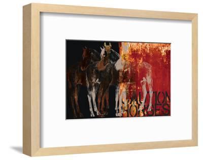 Caution Horses-Parker Greenfield-Framed Art Print