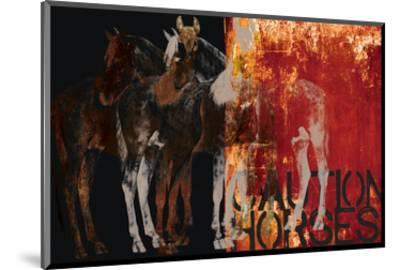 Caution Horses-Parker Greenfield-Mounted Art Print