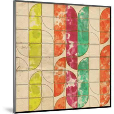 Geometric Color Shape XI--Mounted Art Print