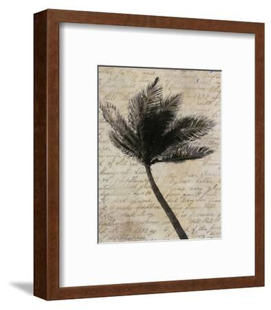 Palm Silhouette--Framed Art Print
