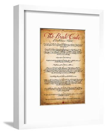 The Pirate Code--Framed Art Print