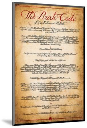The Pirate Code--Mounted Art Print