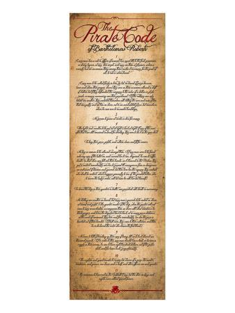 The Pirate's Code--Mounted Art Print