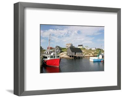 Fishing Boat in Peggy's Cove--Framed Art Print