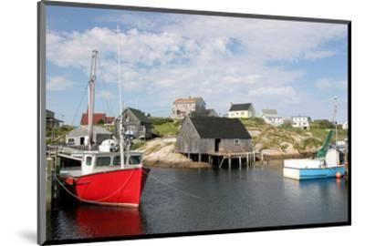 Fishing Boat in Peggy's Cove--Mounted Art Print