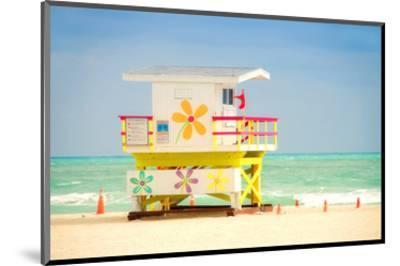 Lifeguard tower in Miami Beach--Mounted Art Print
