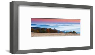 Sunrise in Mountain Landscape--Framed Art Print