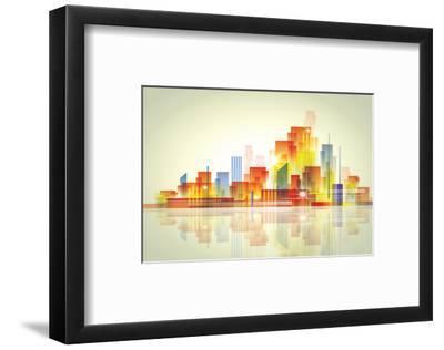 Watercolour City Landscape--Framed Art Print