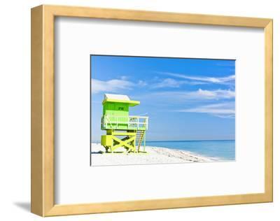 Cabin Miami Beach Florida--Framed Art Print