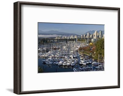 Granville Island Marina--Framed Art Print