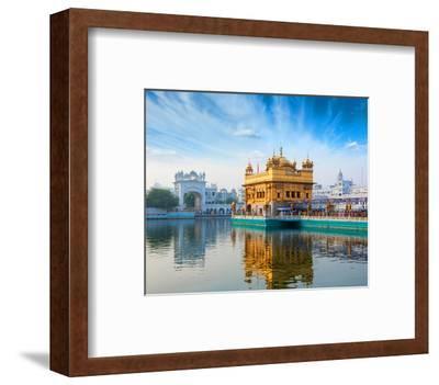 Gurdwara Temple Amritsar-India--Framed Art Print